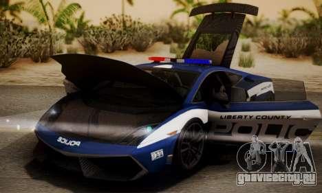 Lamborghini Gallardo LP570-4 2011 Police для GTA San Andreas вид справа
