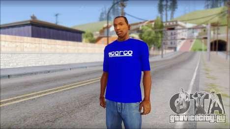 Sparco T-Shirt для GTA San Andreas