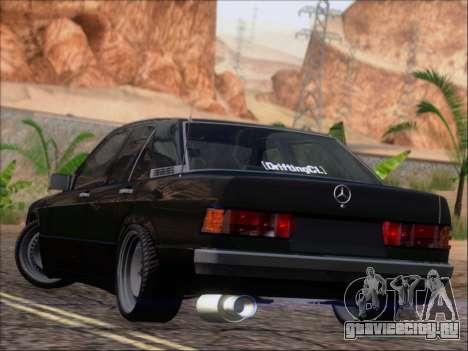 Mercedes Benz 190E Drift V8 для GTA San Andreas вид сзади слева