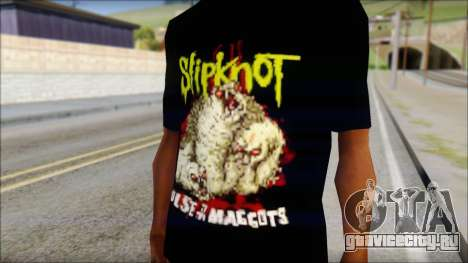 SlipKnoT T-Shirt v5 для GTA San Andreas третий скриншот