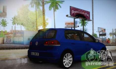 Volkswagen Golf Mk6 2010 для GTA San Andreas вид слева