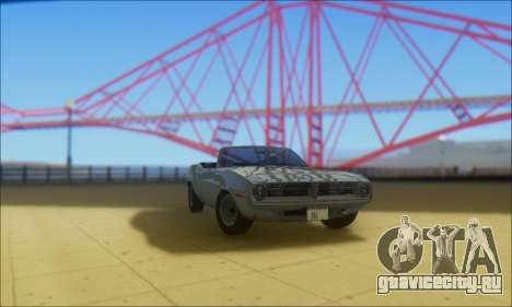 Plymouth Cuda 1970 Stock для GTA San Andreas