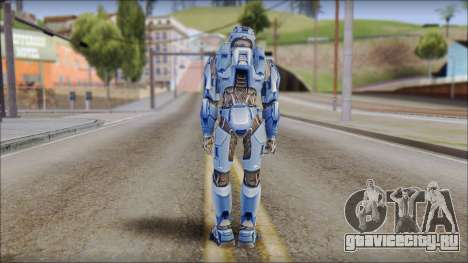 Masterchief Blue from Halo для GTA San Andreas третий скриншот