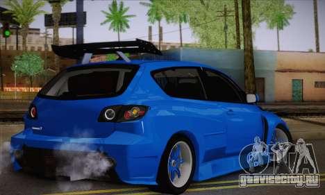 Mazda Speed 3 Tuning для GTA San Andreas вид слева