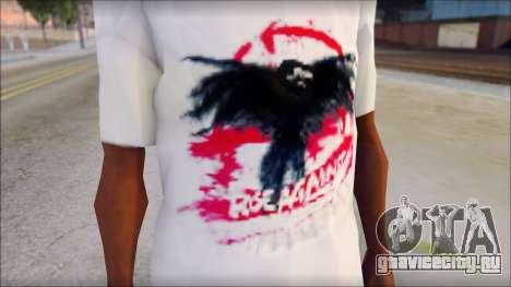 Rise Against T-Shirt V2.1 для GTA San Andreas третий скриншот