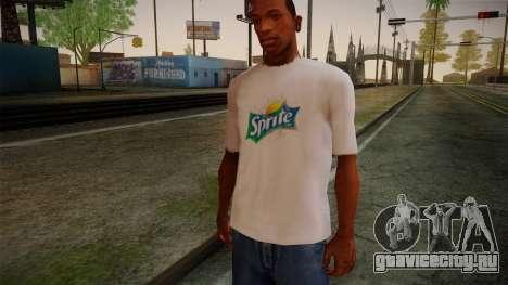 Sprite Shirt White для GTA San Andreas