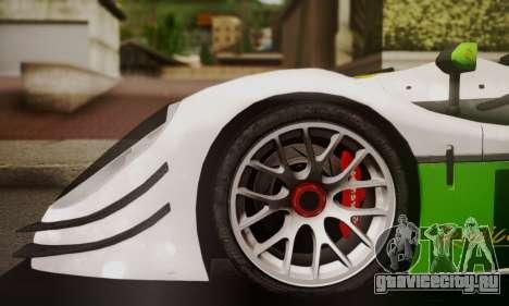 Radical SR8 Supersport 2010 для GTA San Andreas вид сзади слева