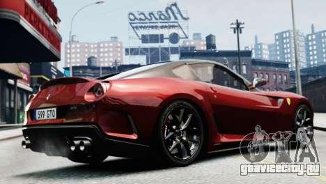Ferrari 599 GTO для GTA 4 вид сзади слева