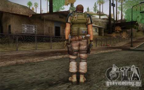 Chris Redfield from Resident Evil 6 для GTA San Andreas второй скриншот