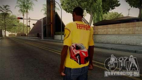 Ferrari T-Shirt для GTA San Andreas второй скриншот