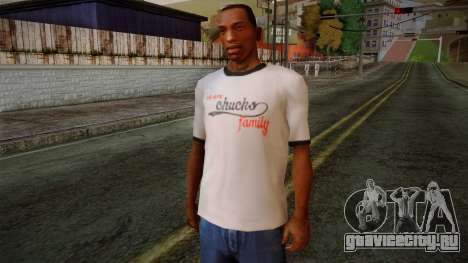 Chucks Anon Family T-Shirt для GTA San Andreas