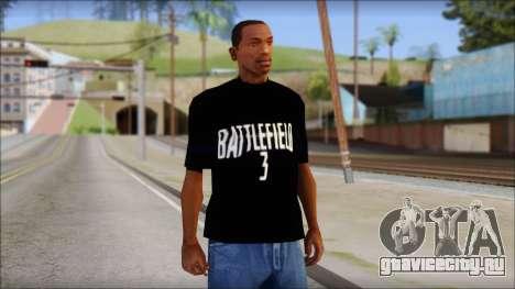 Battlefield 3 Fan Shirt для GTA San Andreas