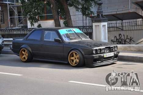 BMW e30 UDC для GTA San Andreas вид изнутри