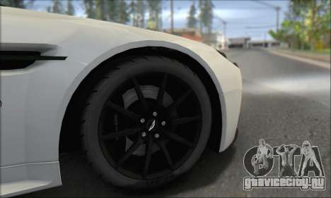 Aston Martin V12 Vantage S 2013 для GTA San Andreas вид сверху