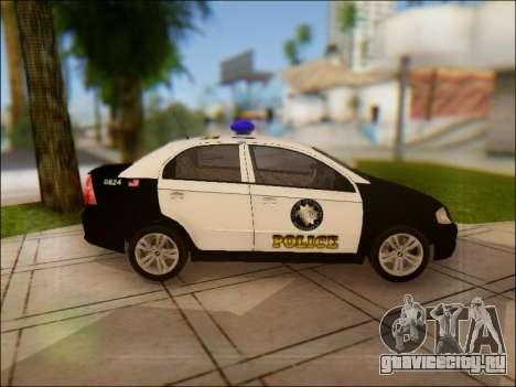 Chevrolet Aveo Police для GTA San Andreas вид изнутри