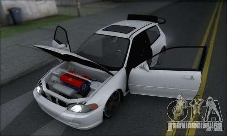 Honda Civic 1995 для GTA San Andreas вид сбоку