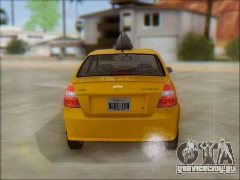 Chevrolet Aveo Taxi для GTA San Andreas вид изнутри