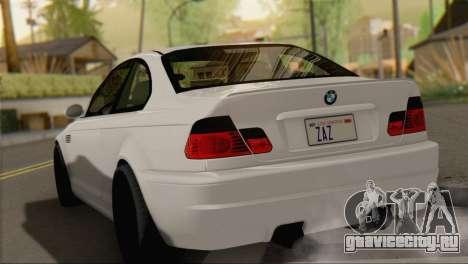 BMW M3 E46 Black Edition для GTA San Andreas вид слева