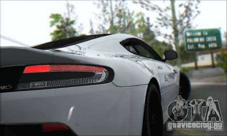 Aston Martin V12 Vantage S 2013 для GTA San Andreas вид изнутри