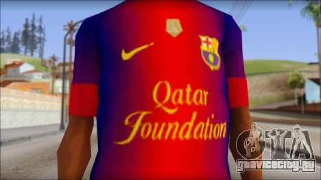 Barcelona Messi T-Shirt для GTA San Andreas третий скриншот
