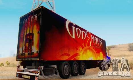 Godsmack - 1000hp Trailer 2014 для GTA San Andreas вид справа