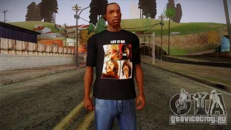 The Beatles Let It Be T-Shirt для GTA San Andreas