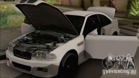 BMW M3 E46 Black Edition для GTA San Andreas вид сзади слева