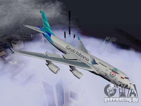 Boeing 747-400 Гаруда Индонезия для GTA San Andreas вид слева