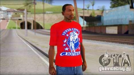 John Cena Red Attire T-Shirt для GTA San Andreas