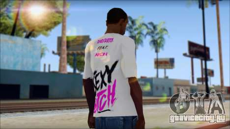 David Guetta Sexy Bitch T-Shirt для GTA San Andreas второй скриншот