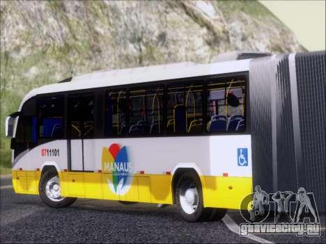 Neobus Mega BRT Volvo B12M-340M для GTA San Andreas вид сзади слева