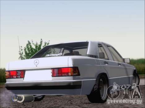Mercedes Benz 190E Drift V8 для GTA San Andreas вид справа