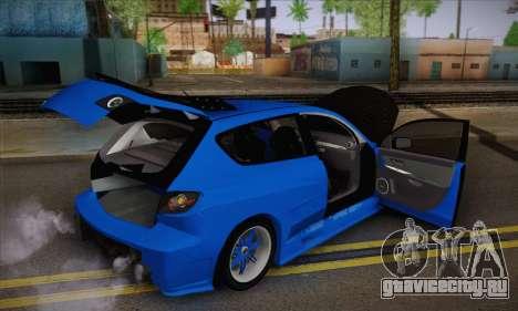 Mazda Speed 3 Tuning для GTA San Andreas вид сзади