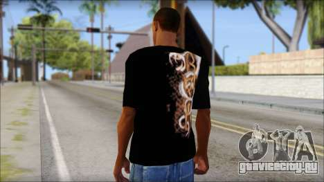 Randy Orton Black Apex Predator T-Shirt для GTA San Andreas второй скриншот