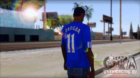 Chelsea F.C Drogba 11 T-Shirt для GTA San Andreas второй скриншот