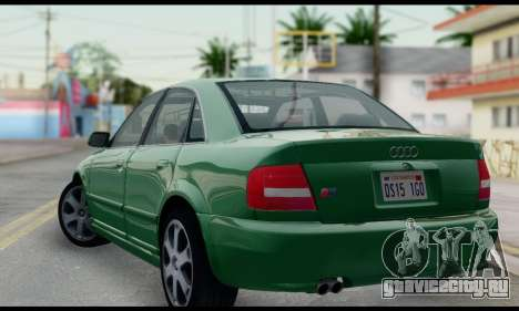 Audi S4 2000 для GTA San Andreas вид слева