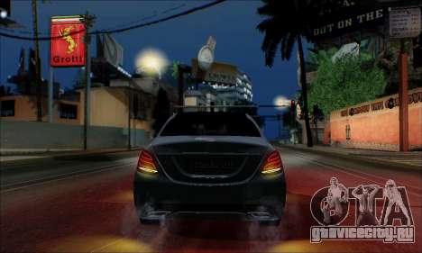 Mercedes-Benz C250 2014 V1.0 EU Plate для GTA San Andreas вид сбоку