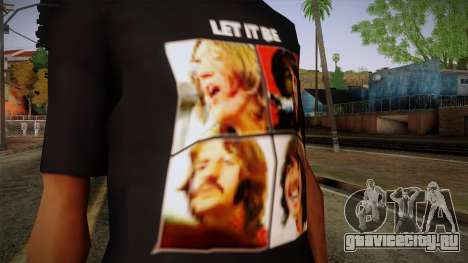 The Beatles Let It Be T-Shirt для GTA San Andreas третий скриншот