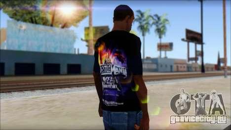 Wrestle Mania T-Shirt v1 для GTA San Andreas второй скриншот