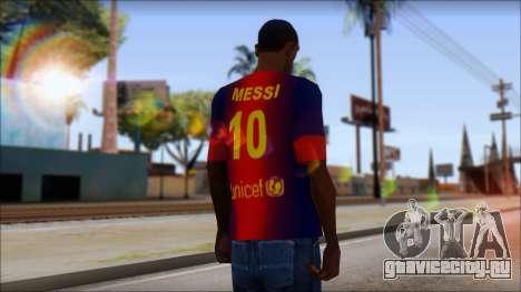 Barcelona Messi T-Shirt для GTA San Andreas второй скриншот