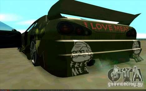 Покрасочная работа Pudge (Dota 2) для Elegy для GTA San Andreas вид справа