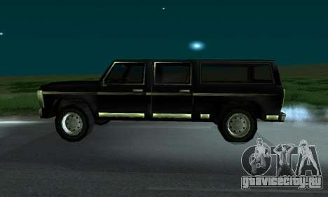 New FBI Rancher для GTA San Andreas вид сзади слева
