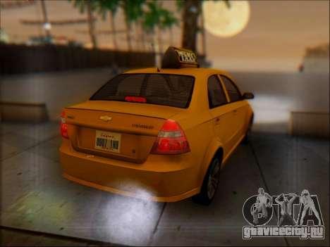 Chevrolet Aveo Taxi для GTA San Andreas вид сверху