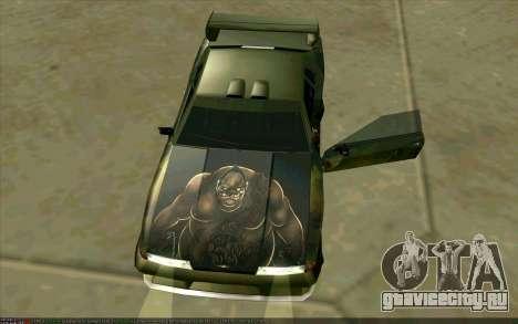 Покрасочная работа Pudge (Dota 2) для Elegy для GTA San Andreas вид сзади слева