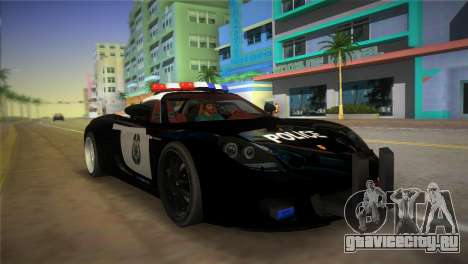 Porsche Carrera GT Police для GTA Vice City