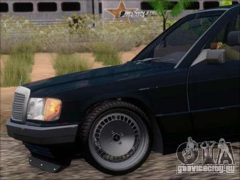 Mercedes Benz 190E Drift V8 для GTA San Andreas колёса