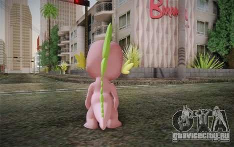 Spike from My Little Pony Friendship для GTA San Andreas второй скриншот