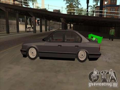 BMW 535i для GTA San Andreas вид изнутри