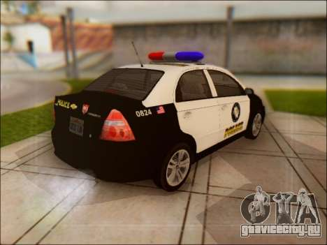 Chevrolet Aveo Police для GTA San Andreas вид сзади