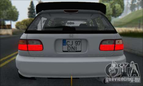 Honda Civic 1995 для GTA San Andreas двигатель
